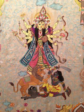 Durga in Kantha, 'SHE', Kolkata