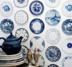 Studio Ditte Blue Porcelain Plate Wallpaper