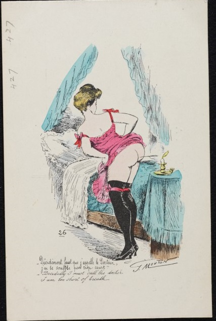 Milford Haven Collection Postcard, lithograph by Georges Mouton, French, c. 1904 E.524:427-2001