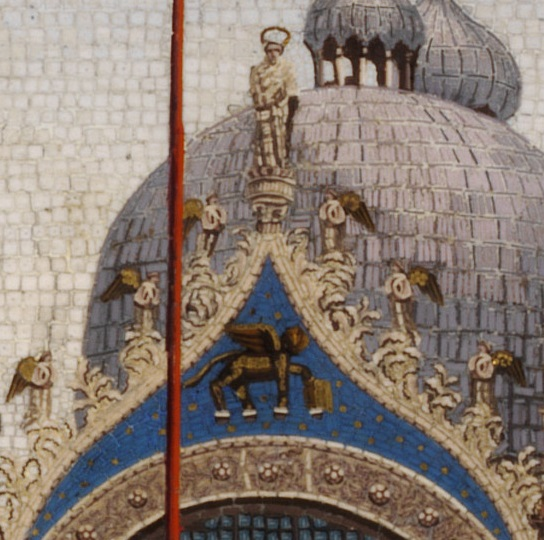 Detail: Saint Mark's Basilica, Venice, early 20th century; 18.4×25.4cm