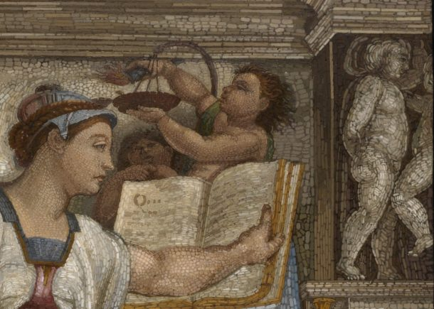 Detail: The Erythrean Sibyl, Vatican Workshop, Rome, 1775-1800; 25.9x20.3cm