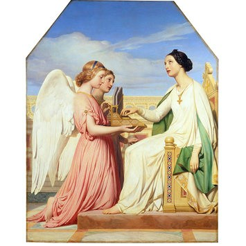 'St. Cecilia and the angels', by Paul Delaroche. Oil painting, 1836. Museum no. 553-1903. ©Victoria and Albert Museum, London