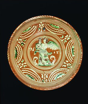 German slipware dish 1615