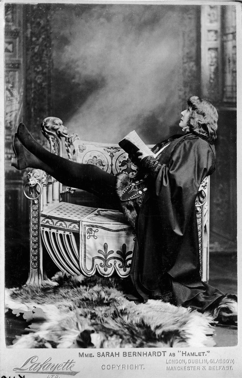 Sarah Bernhardt performing as Hamlet © Victoria and Albert Museum, London