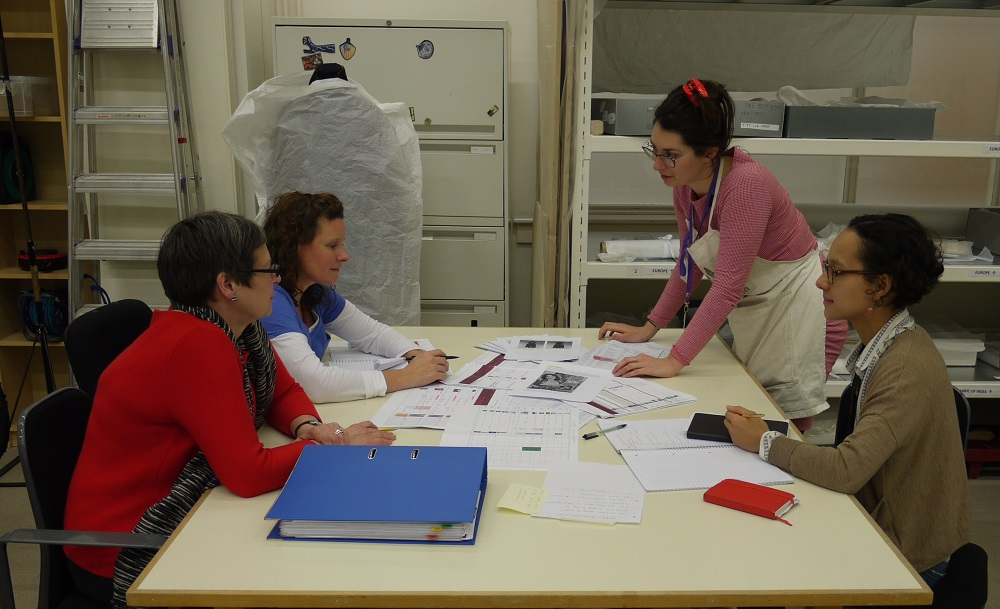 The team - Tina, Lara, Lilia and Rachael - at work in the studio © V&A Collection