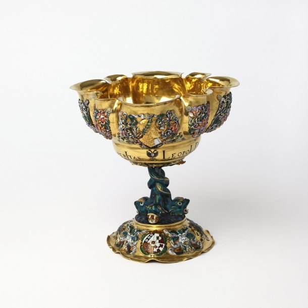 Gold cup, prob. Augsburg or Vienna, inscription dated 1665; h. 17.5cm (museum no. Loan:Gilbert.13-2008; The Rosalinde and Arthur Gilbert Collection on loan to the V&A)