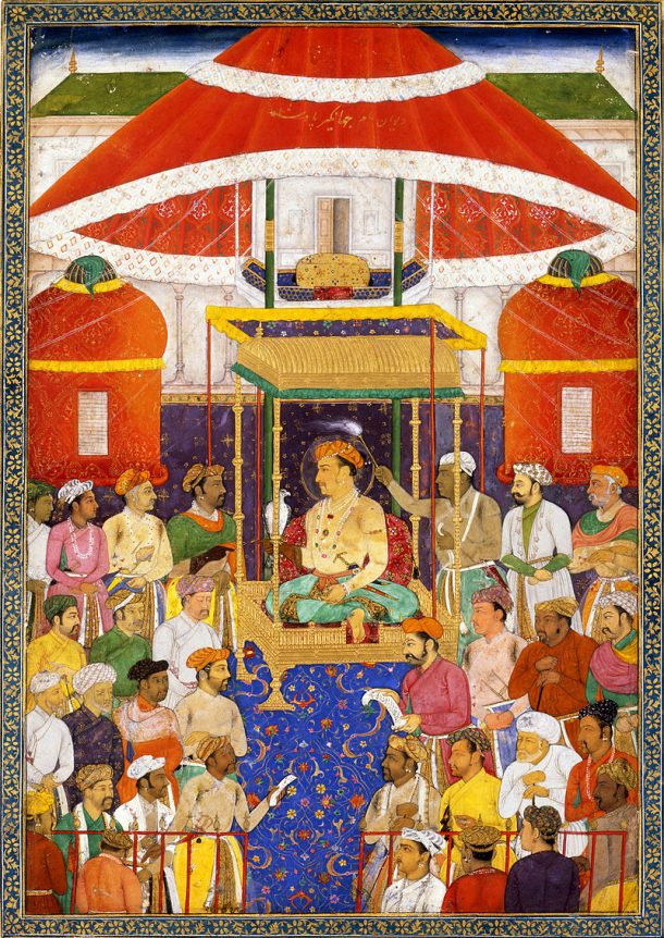 The_Great_Mughal_Jahangir's_Darbar ca 1620 David Collection 20.1979