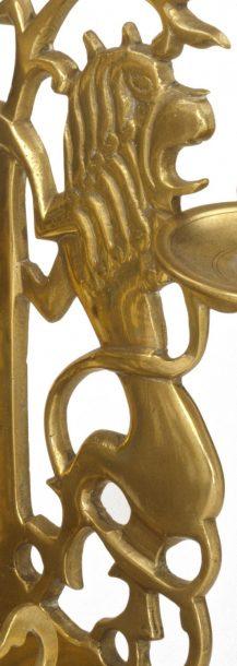 Detail of the same Hanukkah Lamp.