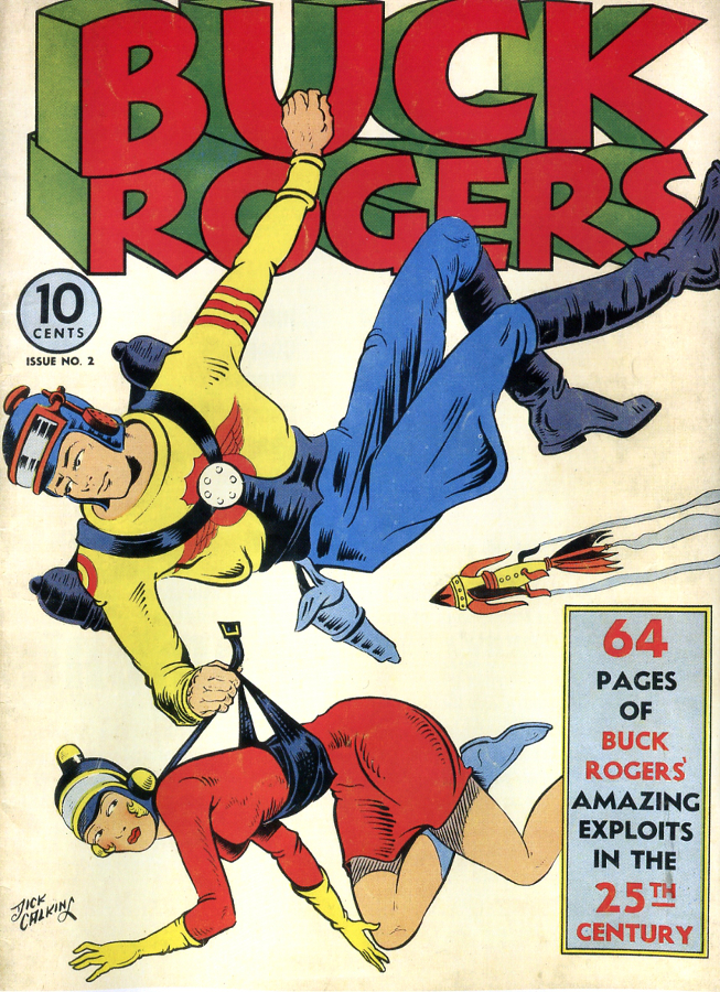 Buck Rogers # 2 from 1941: the incomparable, seminal sci fi strip. © John Dille Co. 1941.
