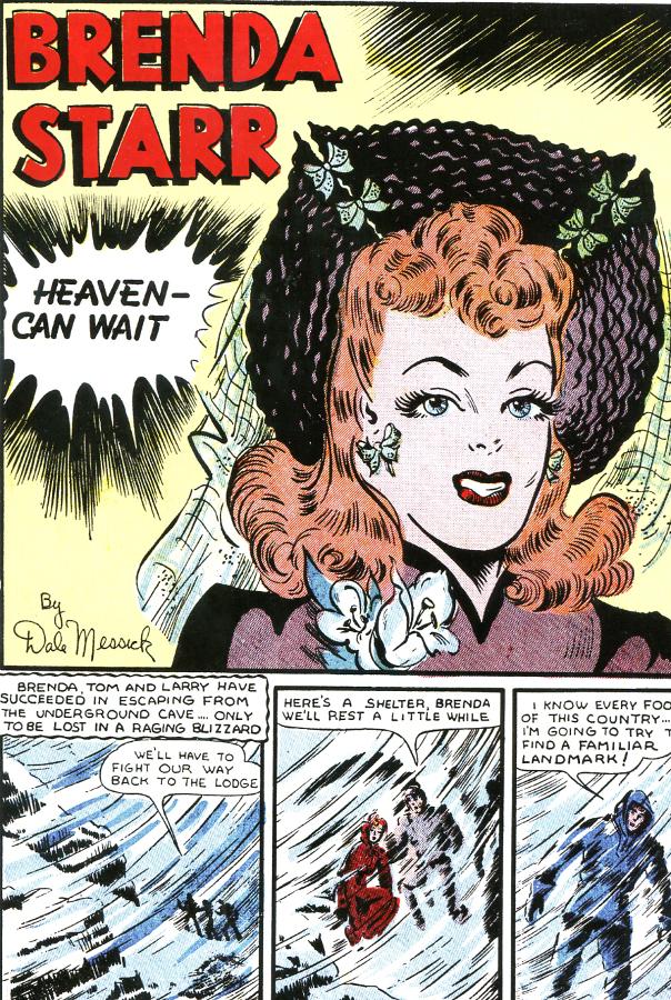 Brenda Starr #4 1948. Dale Messick's fashion conscious reporter.