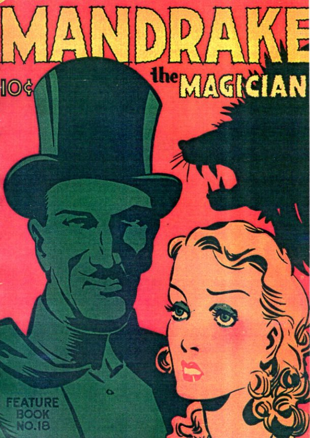 Mandrake Feature Book #18 1938. None of the many comic strip magicians could rival Lee Falk's creation. © King Features Syndicate Inc. 1938.