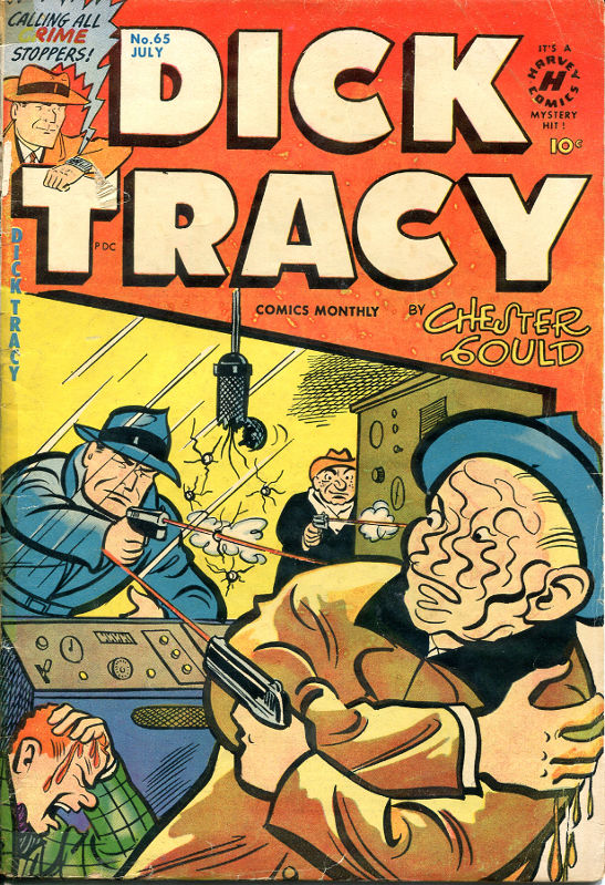 Dick Tracy # 65, July 1953. A master detective doing a master class in sadism for all ages. © Chicago Tribune/Harvey Publications, 1953.