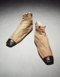 A pair of Queen Victoria's 1937 Sparkes Hall boots on display in the Powerhouse Museum, Sydney, Australia.