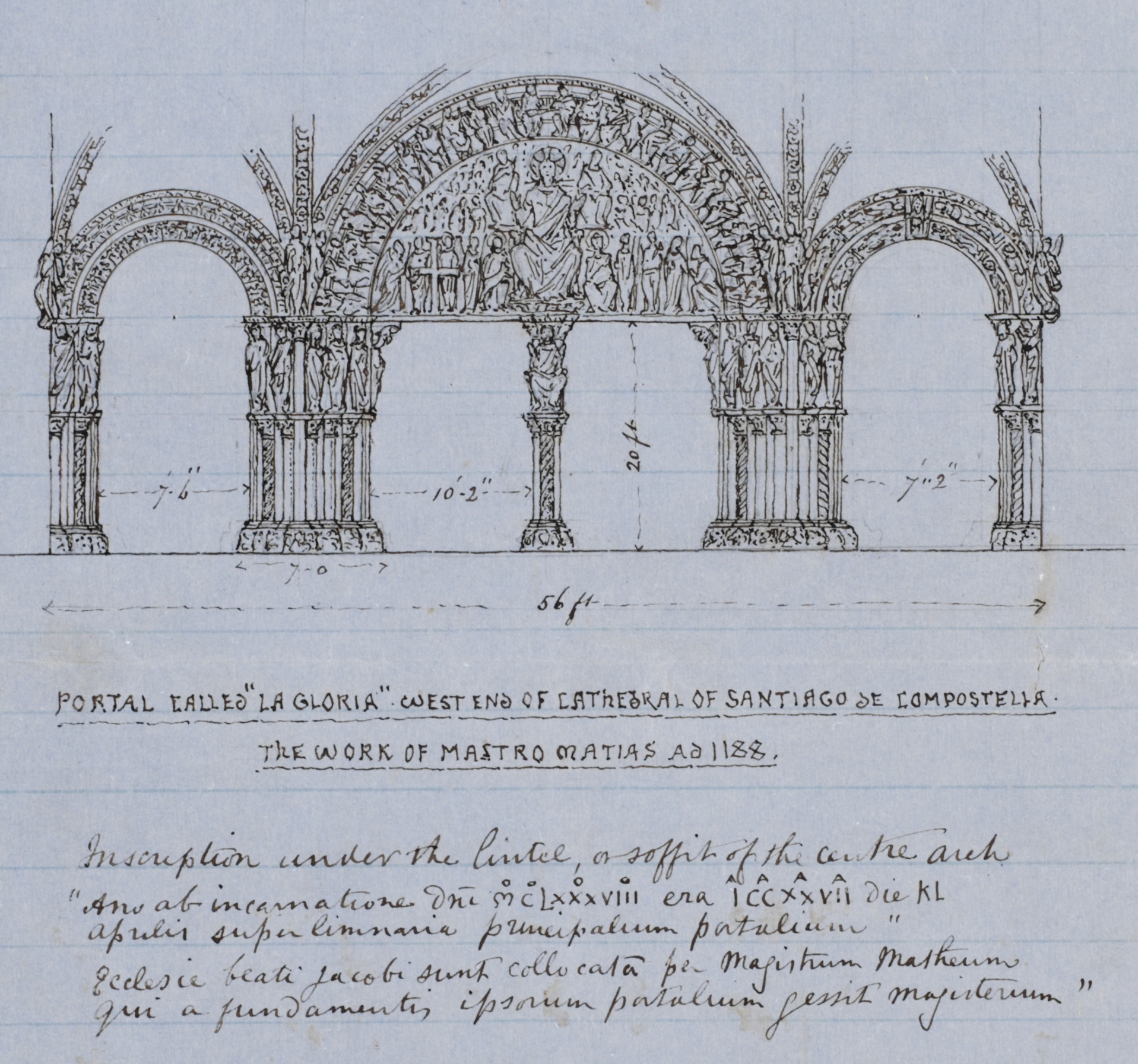 Art Referee Report from John Charles Robinson, sketch of 'La Gloria Portal', 11th September 1865 (V&A Archive ref. MA/3/16; RP/1865/20695) © Victoria & Albert Museum, London