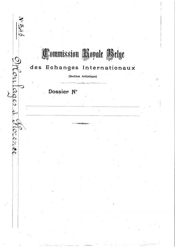 The front page of the 1874 Dossier © arch.kmkg-mrah