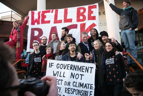 The Heathrow 13. Sentencing day at Willesden Magistrate's Court, North London, 24 February 2016. Photograph by Kristian Buus