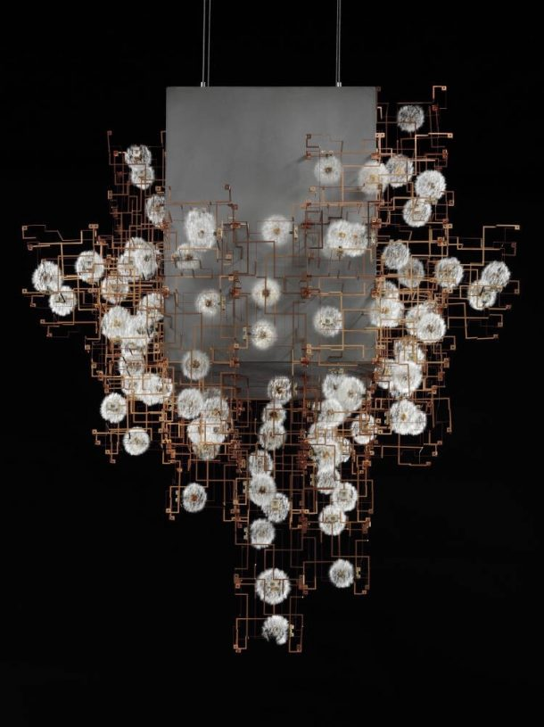 'Fragile nature' chandelier, Studio Drift, 2011