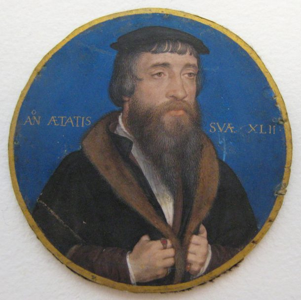William Roper (1493/94–1578), by Hans Holbein the Younger, 1535/36, The Metropolitan Museum of ArtRogers Fund 1950. Accession number: 50.69.1 Photography by Victoria Button. Removed from locket