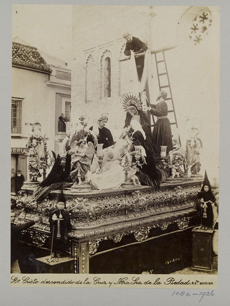 Photograph of a processional sculpture in Seville. Museum no. 1084-1926. © Victoria and Albert Museum