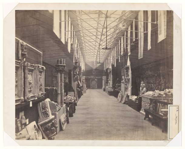 Interior view of the architectural casts gallery albumen print, c. 1860 Victoria and Albert Museum