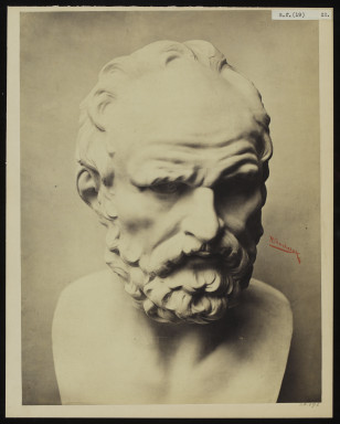 42596 Albumen print of a sculpture photographed by Adolphe Bilordeaux