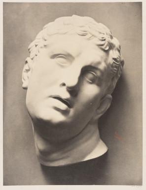 42590 ECOLES MUNICIPALES Etudes de Dessins d'apres l'Antique et les Grands Maîtres; Albumen print of a plaster cast of a sculpture photographed by Adolphe Bilordeaux 1864