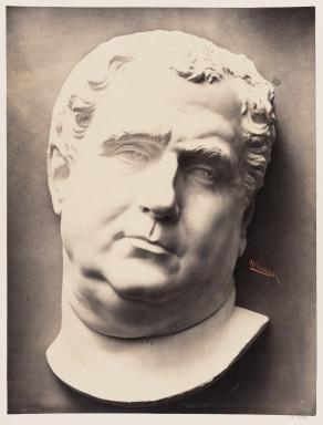 42598 ECOLES MUNICIPALES Etudes de Dessins d'apres l'Antique et les Grands Maîtres; Albumen print of a plaster cast of a sculpture photographed by Adolphe Bilordeaux in 1864.