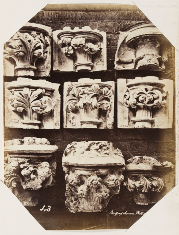 Bedford Lemere Westminster Abbey capitals from the cast collection of the Royal Architectural Museum, c. 1872 albumen print musuem no. E.663:44-2016 ©Victoria and Albert Museum