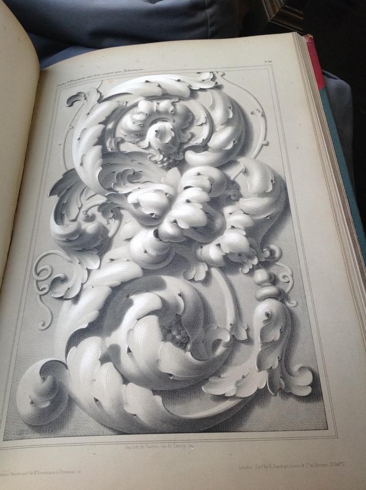 Page from Études d'Ornements aux deux Crayons by Adolphe Bilordeaux