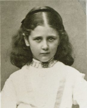 Beatrix Potter photographed aged 9.