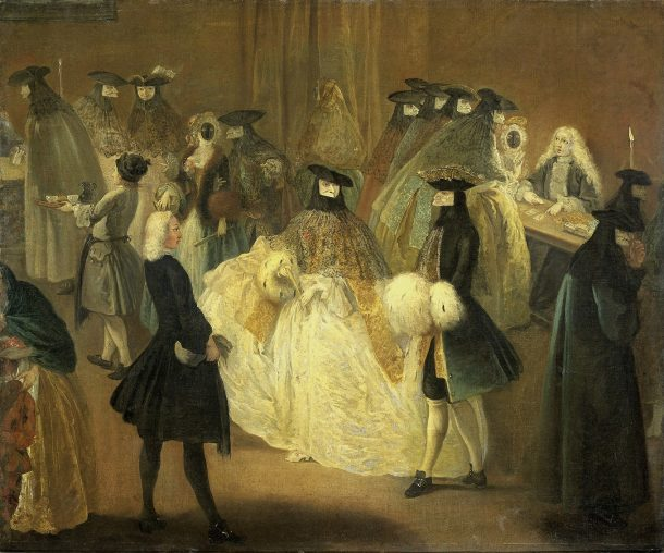 Painting titled The Casino, by a follower of Pietro Longhi, between 1720 and 1790