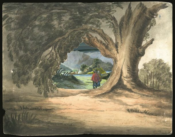 Fig.4. View from L'Angostura de Paine in Chile, by Maria Graham, later Lady Callcott, British, ca.1835, (Cat.228). Photography: Dennis Crompton