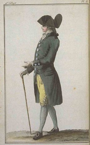 18th century French fashion plate