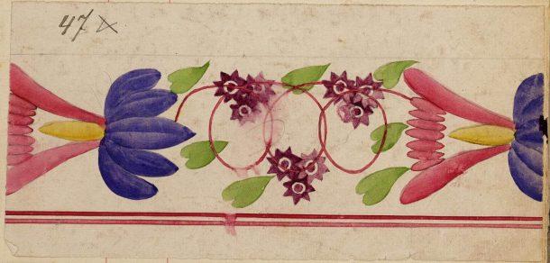 Fig. 5 Décor 47, Maastricht earthenware decorations, 1836-1969 © Het Geheugen van Nederland/Koninklijke Bibliotheek - Nationale bibliotheek van Nederland, 2003