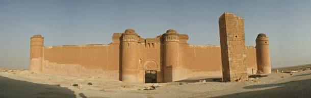 Umayyad desert castle Qasr al-Hayr al-Sharqi in the middle of the Syrian Desert. © Eric Albers