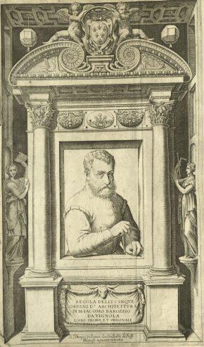 Regola delli cinque ordini d'architettura, by Vignola. Book, published Rome: Gio: Battista de Rossi, [162-?]. NAL: L.5665-1961