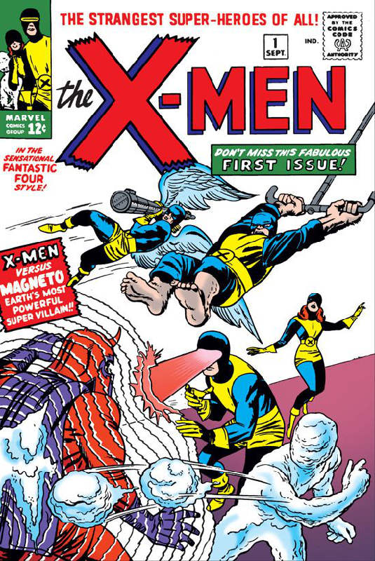 X-Men Number 1. © Marvel comics, 1963.