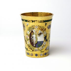 Loan:Gilbert.28-2008 Beaker Gold and enamel beaker, Europe, 1600-25. Europe 1600-1625 Gold and enamel
