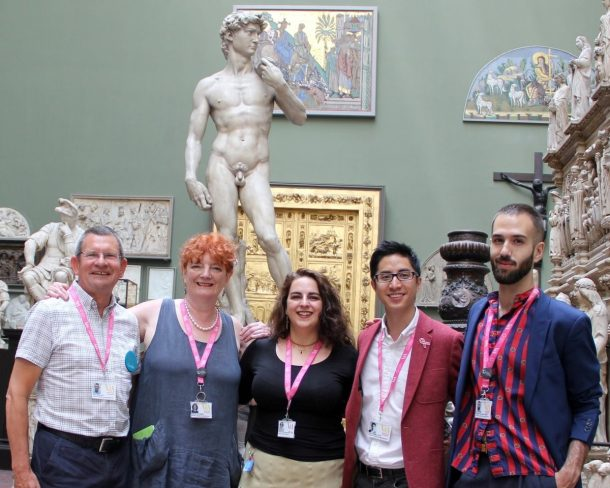 Some of the team: Tony, Morag, Dan and Ruben, with Caterina the Museum's Volunteer Coordinator (centre)