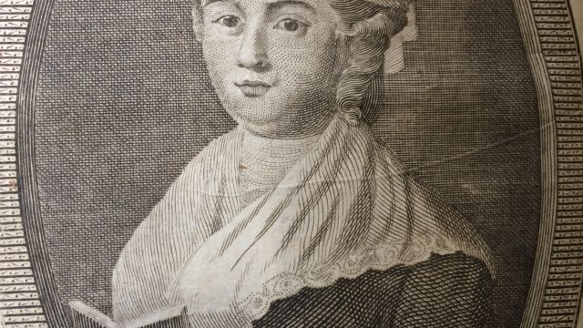 Portrait of Elizabeth Raffald published in, The Experienced English Housekeeper, 1803.