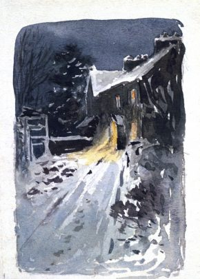 Hill Top by night, Beatrix Potter, 1913, BP.294