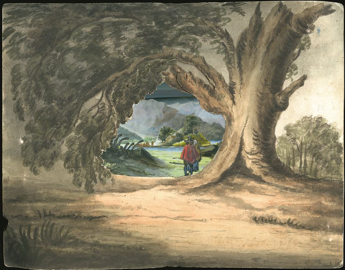 Fig. 5. 'View of L'Angostura de Paine in Chile', ca.1835 by Maria Graham.