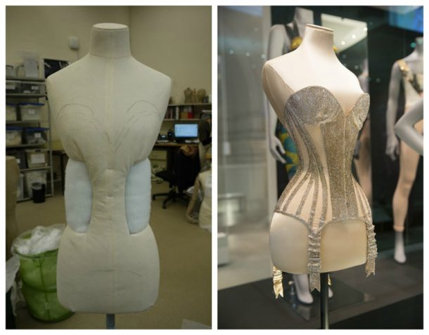 Adapted PETITE dress form for corset designed by Mr Pearl, worn by Dita von Teese