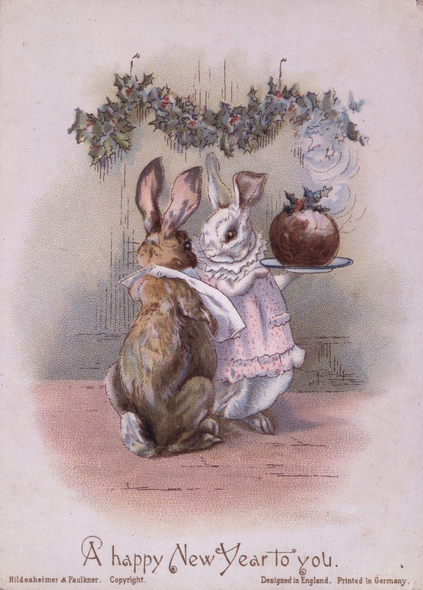 Старые открытки с зайчиком