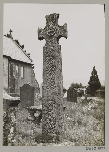 Irton Cross standing on the churchyard of St Paul's Chruch in Irton, Cumbria. Image © Victoria and Albert Museum, London