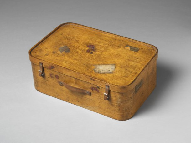 Suitcase made of moulded and sheet birch plywood. Originally owned by the architectural critic P. Morton Shand who was a contributor to the Architectural Review. Manufactured by Luterma in Esonia, about 1930.