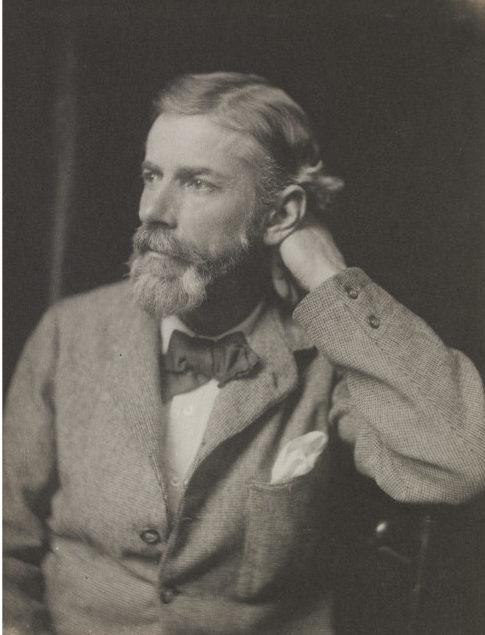 Portrait of Edward Carpenter, platinum print, by Frederick Hollyer, ca.1890 (V&A 7610-1938)