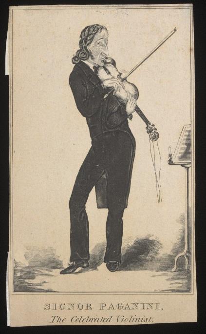 Signor Paganini. The celebrated violinist
