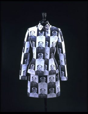 Woven polyester jacket and skirt, designed by Vivienne Tam, Hong Kong, 1995-1998