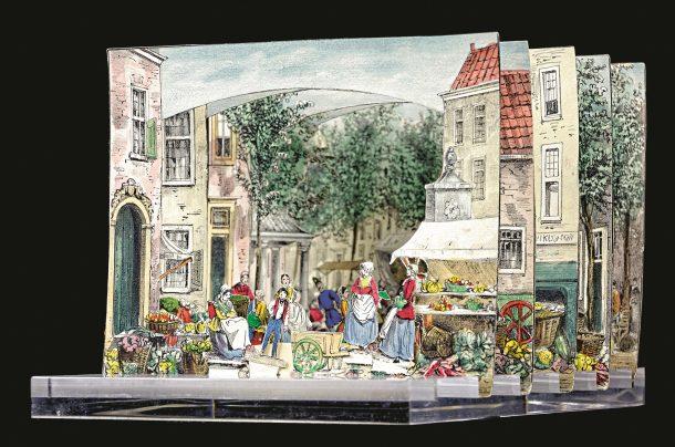 Fig.2. Groenmarkt, The Hague, ca.1860.
